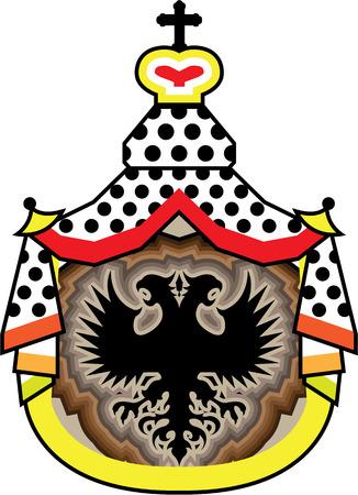 Royal badge vector illustration clip-art image Illustration