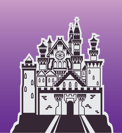 Castle rock vector illustration clip-art eps image