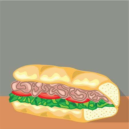 Sandwich vector illustration clip-art image