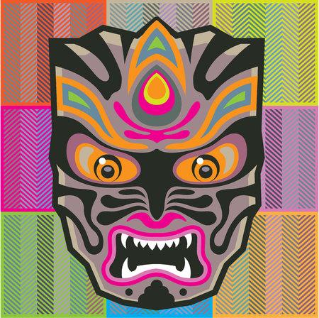 Mask vector illustration clip-art Illustration
