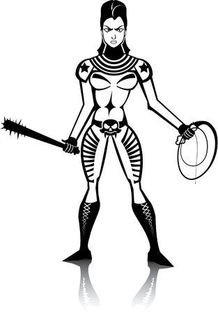 Femme de beauté mal maîtresse vector image eps Banque d'images - 69634825