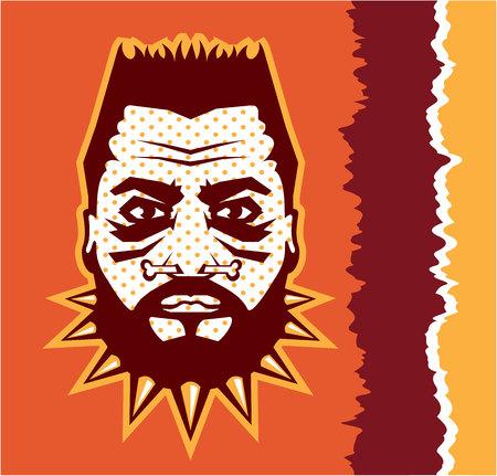 Cannibal vector illustration clip-art image