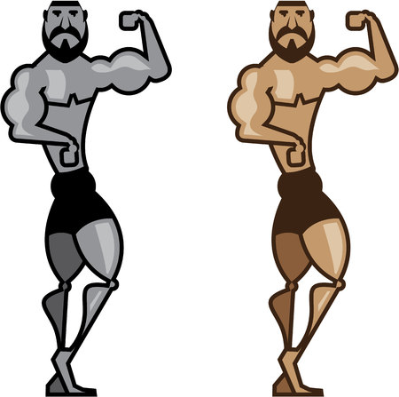 Muscle arts vector illustration clip-art eps image