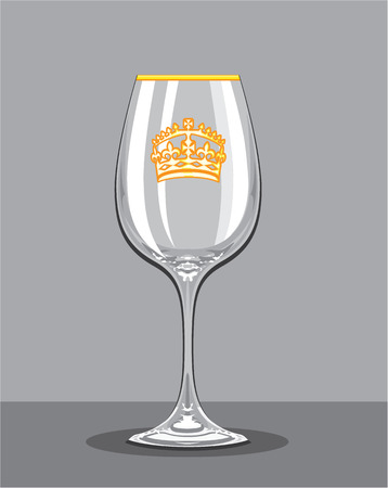 collectible: Empty wine glass vector illustration clip-art image
