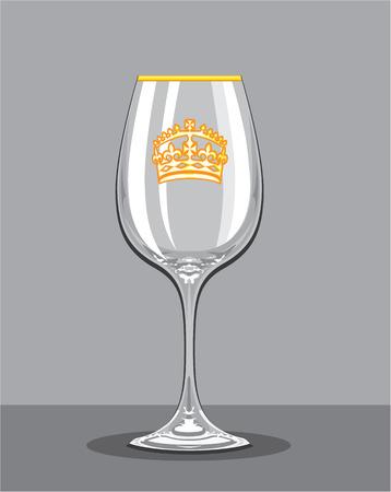Empty wine glass vector illustration clip-art image