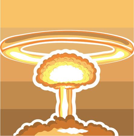 image vectorielle d'explosion nucléaire illustration clip-art