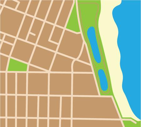 Piece of map vector illustration clip-art image Illustration