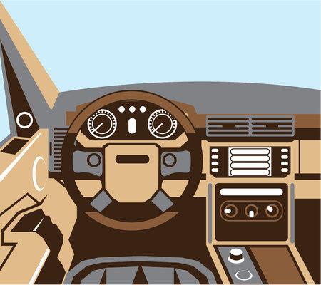 Auto interior vector illustration clip-art