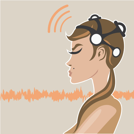 EEG headset vector illustration image
