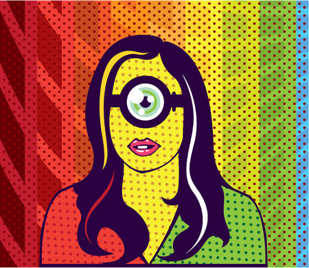 Super smart vector illustration clip-art image  イラスト・ベクター素材