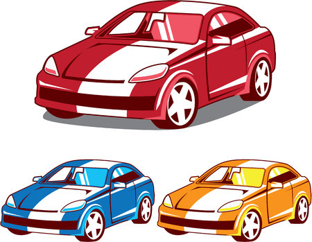 Sport coupe car vector illustration eps image