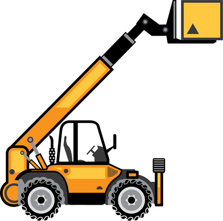Industrial forklift vector image vehicle illustration eps Vettoriali