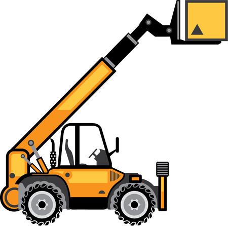 stockpile: Industrial forklift vector image vehicle illustration eps Illustration