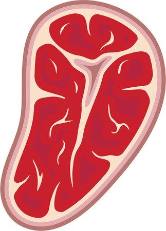 Chunk of meat vector illustration clip-art image Illustration
