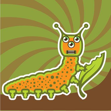 Caterpillar cartoon vector illustration clip-art image