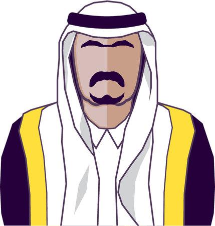 king s: Arab prince vector illustration clip-art