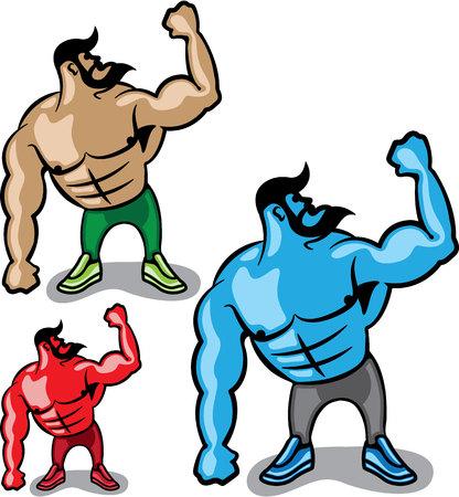 Color hulk vector illustration clip-art image Ilustrace