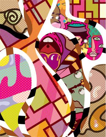Abstract power vector illustration eps art