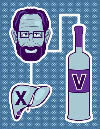 bile: Liver poison vector illustration clip-art image