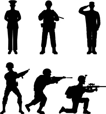 Soldiers outline