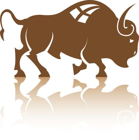 Bison animal vector illustration clip-art file