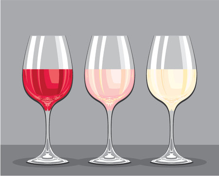 Wine flavors vector illustration clip-art image