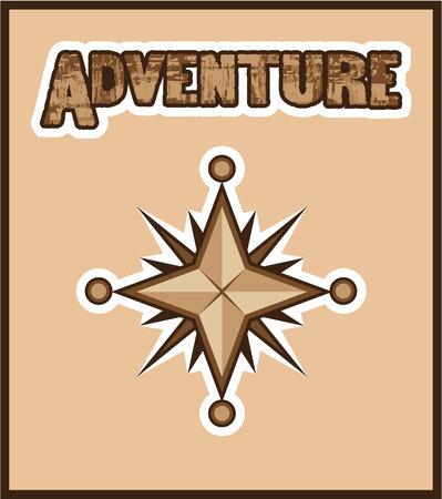 Adventure background vector illustration clip-art image