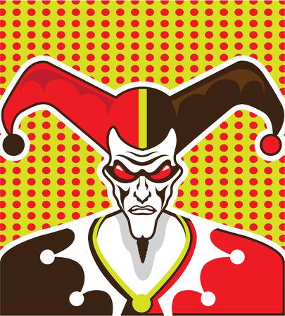 Angry Clown vector illustration clip-art image Illustration