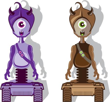 one eye: Monster one eye vector illustration clip-art eps