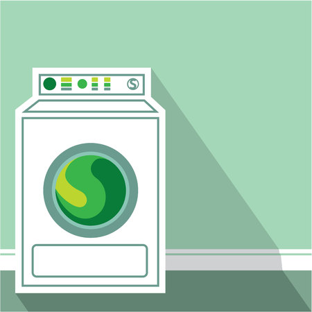 Laundry machine vector illustration clip-art eps Stock Illustratie