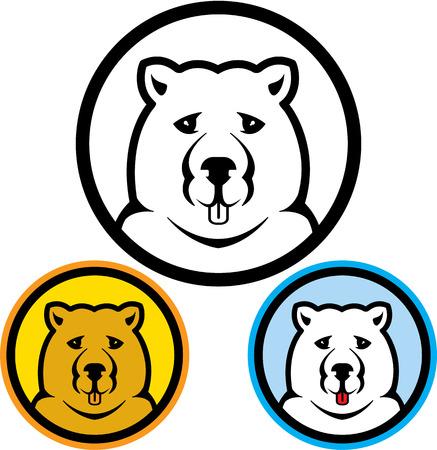 Bear icon vector illustration clip-art image