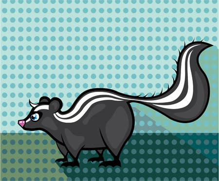 Skunk vector illustration clip-art image eps Çizim
