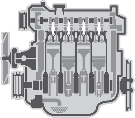 car engine: Engine vector image illustration clip-art file