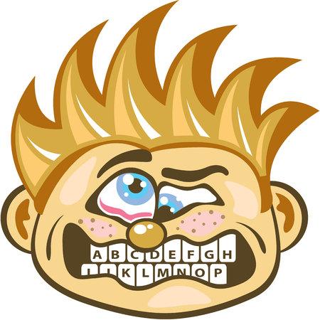 Keyboard grill vector illustration clip-art image