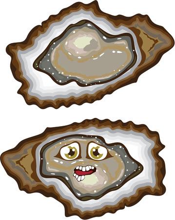 牡蠣グルメ食品アニメーション クリップアート画像ベクトル
