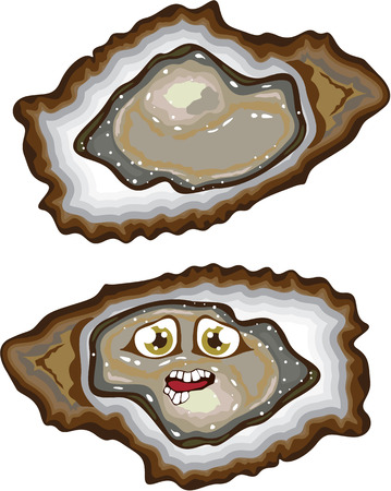 Oyster gourmet food animated clip-art image vector