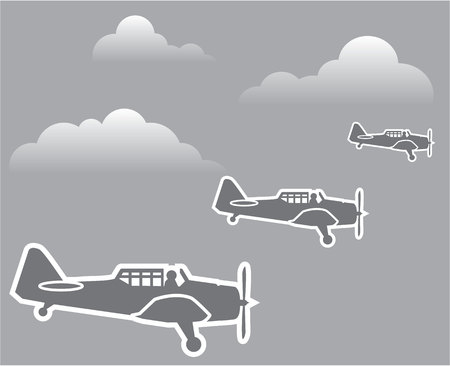 curtis: WWII airplanes illustration clip-art eps vector image