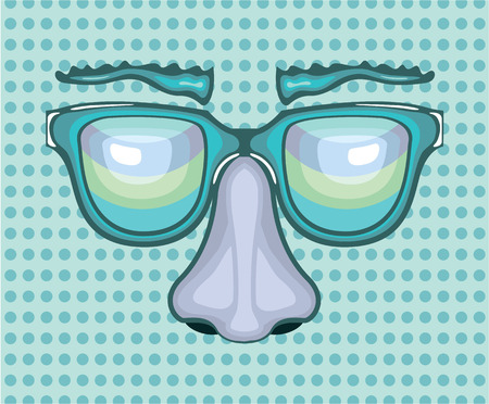 Nose and glasses vector illustration clip-art  イラスト・ベクター素材