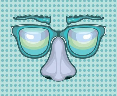 Nose and glasses vector illustration clip-art Ilustração