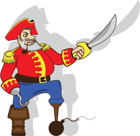 Captain brave vector illustration clip-art image Illustration