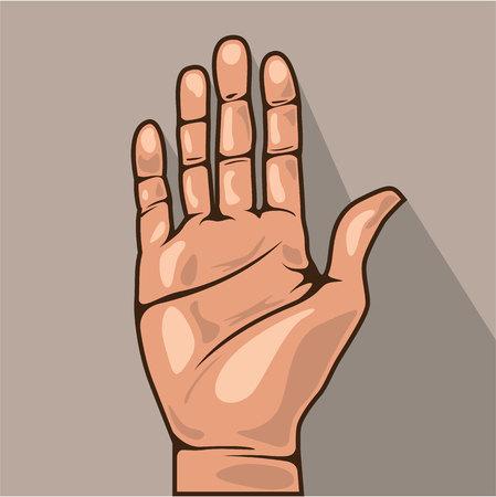 Open hand vector illustration clip-art