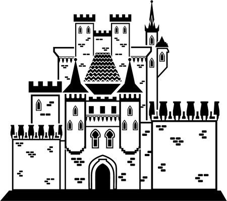 Castle stone vector illustration clip-art eps image  イラスト・ベクター素材