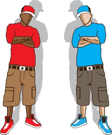 Street gangsters vector illustration clip-art Vectores