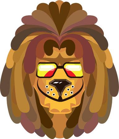 Rastafarian lion vector illustration clip-art image