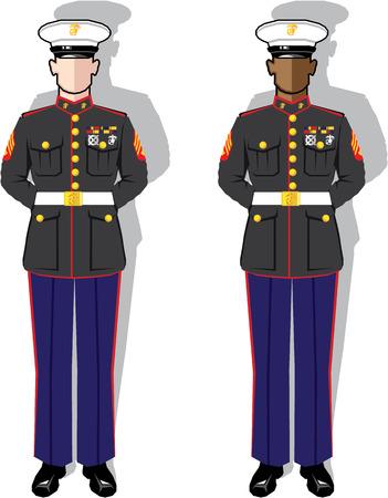 US marine vector illustration clip-art image