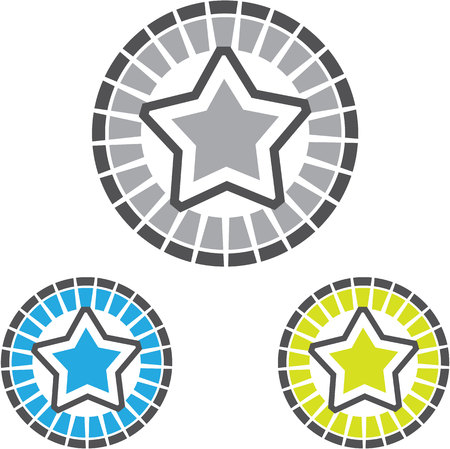 Star vector icon eps simple image Illustration