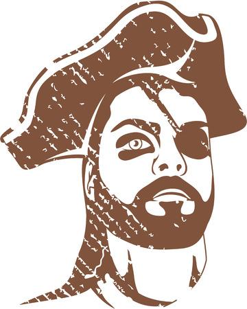 Pirate captain vector illustration clip-art image