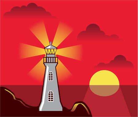 Light house color vector illustration clip-art