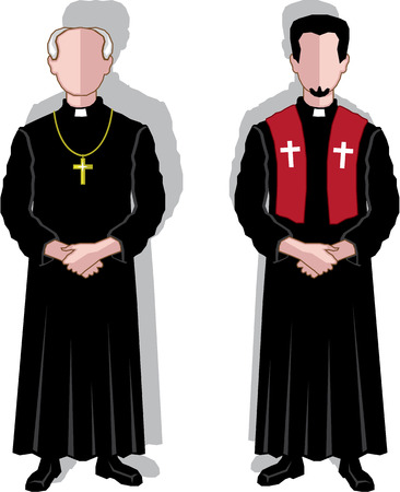 Pastor vector illustration clip-art eps image