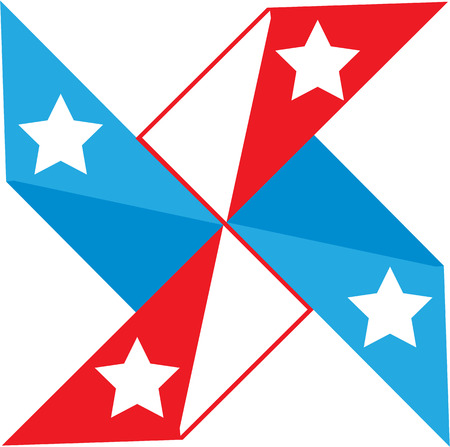 American fan vector clip-art image eps